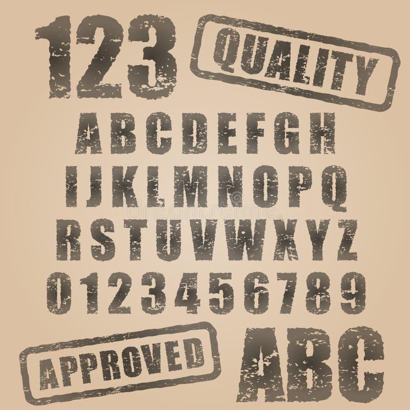 ABC del sello de goma del vector libre illustration