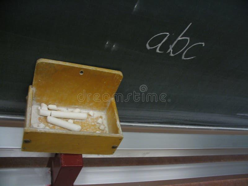 ABC della lavagna fotografia stock libera da diritti