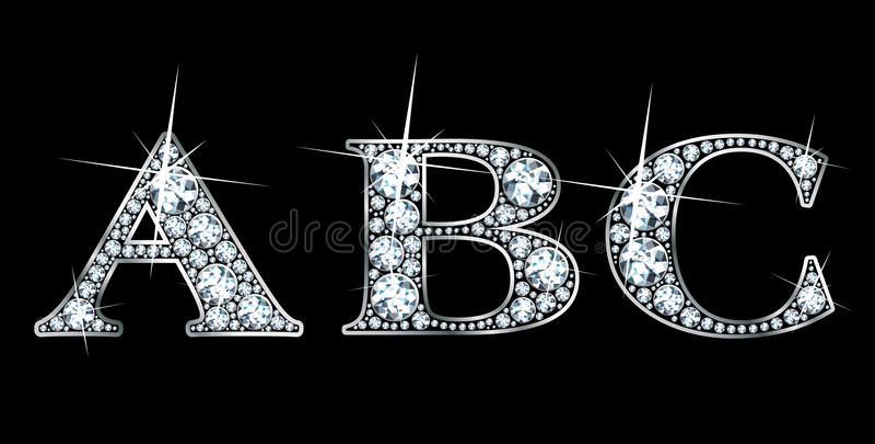 abc-diamant royaltyfria bilder