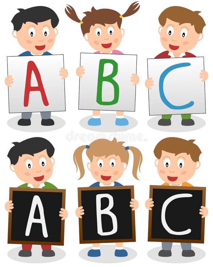 ABC dzieciaki ilustracji