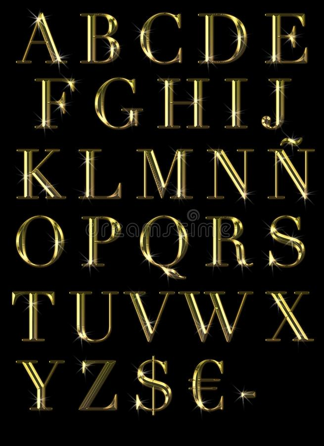 ABC en oro.