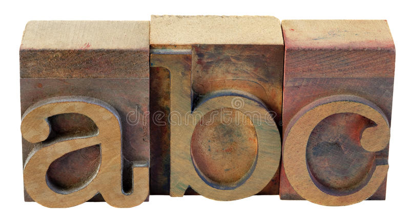 Abc - first letters of alphabet stock photography