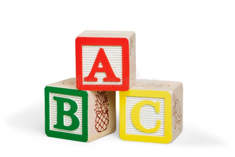 ABC-Geïsoleerde Blokken royalty-vrije stock foto