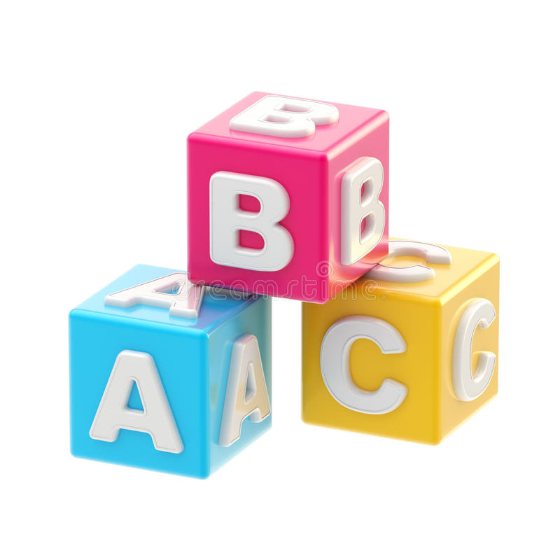 Download ABC Glossy Cube Illustration Isolated Stock Images - Image: 28037514