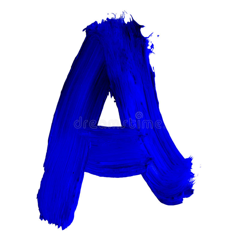 ABC Hand getrokken brieven royalty-vrije illustratie