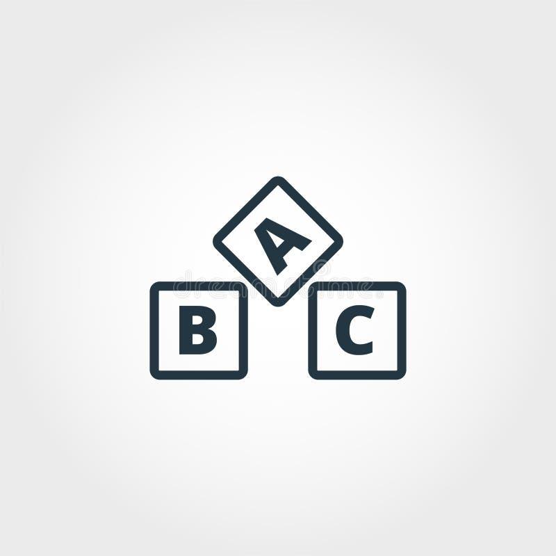 Abc icon. Premium monochrome design from education icon collection. Creative abc icon for web design and printing usage. Abc icon. Premium monochrome design stock illustration