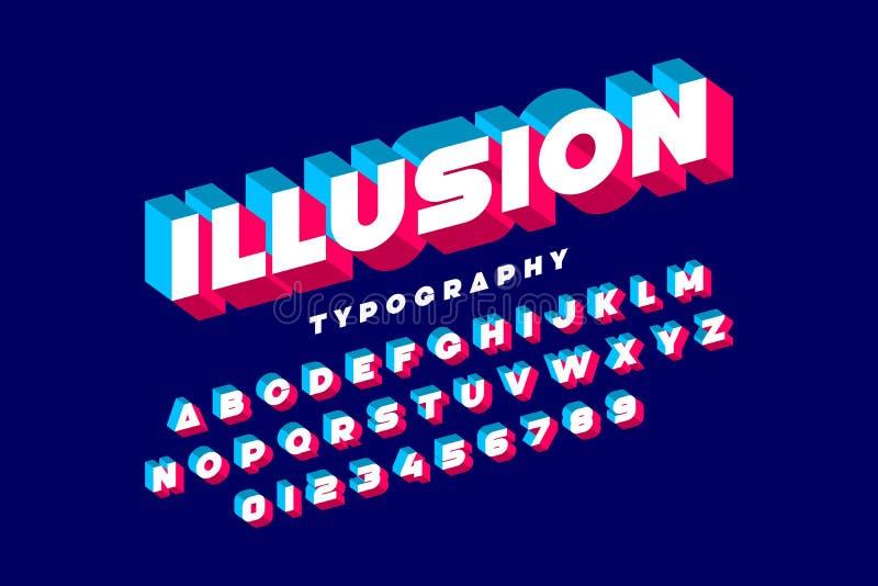 ABC_Illusion vector illustration