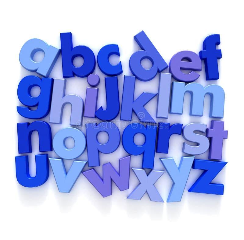 ABC im Blau lizenzfreie abbildung