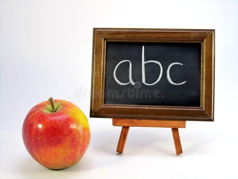 abc jabłka blackboard zdjęcia royalty free