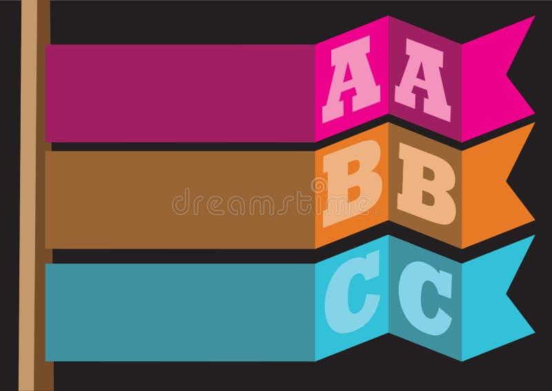 ABC kennzeichnen abstraktes Vektor-Hintergrund-Plan-Design vektor abbildung