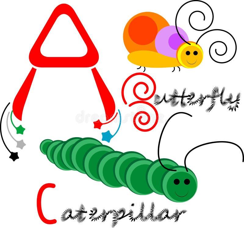 Download ABC Kids illustration stock illustration. Illustration of butterfly - 23481907