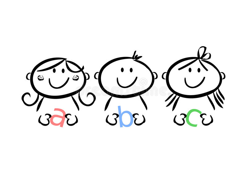 ABC-Kinder vektor abbildung