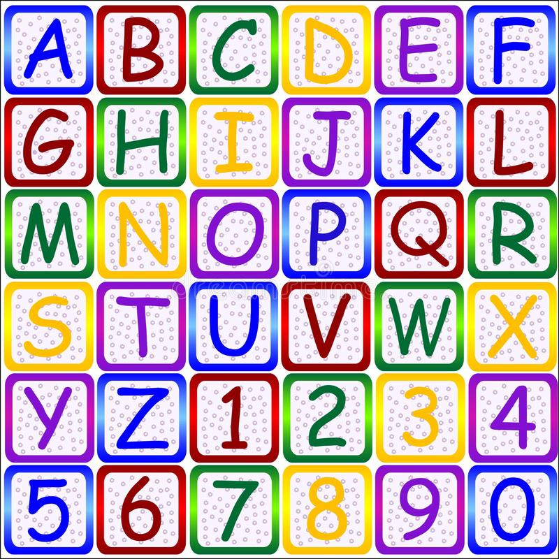 Download ABC letters-123 numbers stock illustration. Illustration of alphabet - 17223007