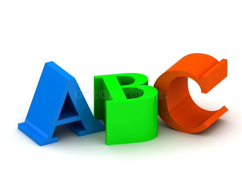 ABC letters stock illustration
