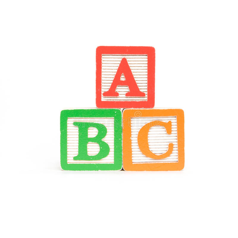 ABC Letters royalty free stock photos