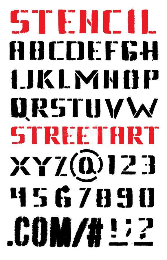 ABC Lettres d'un alphabet dans le style d'art de rue illustration stock