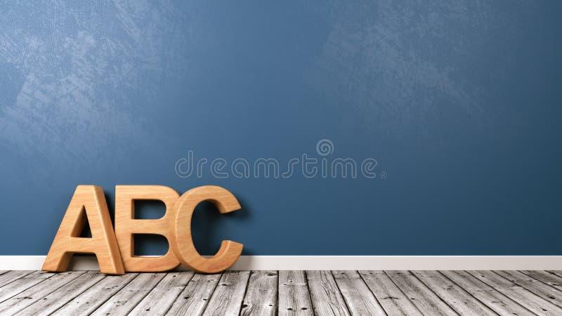 ABC listy na Drewnianej podłoga ilustracji