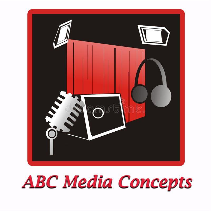 ABC-media concepten royalty-vrije illustratie