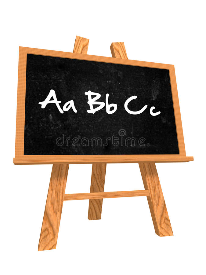 Abc op bord vector illustratie