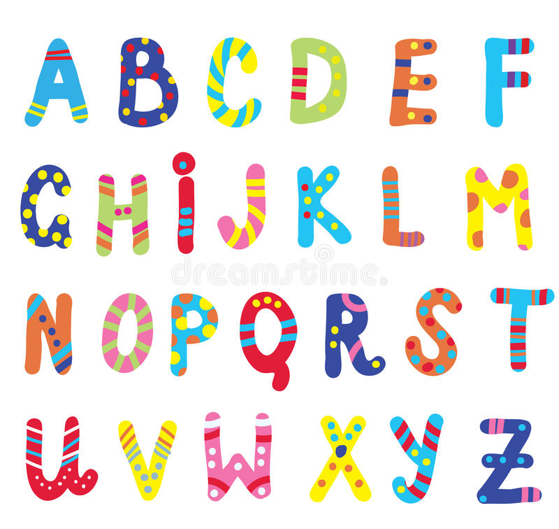 ABC para as crianças engraçadas ilustração stock