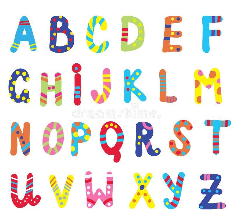 ABC pour des enfants drôles illustration stock
