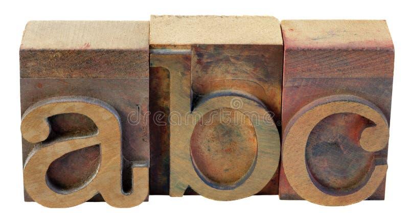 ABC - prime lettere dell'alfabeto fotografia stock