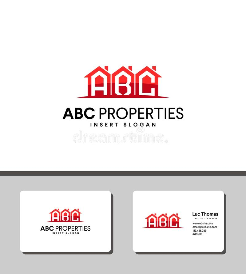 Abc properties logo perfect for corporate branding identity stock images