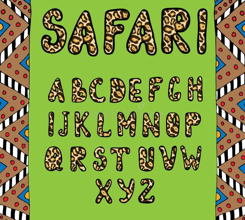 abc safari ilustracja wektor