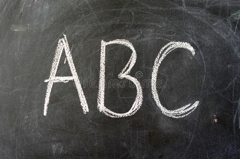 ABC On A School Blackboard stock photography