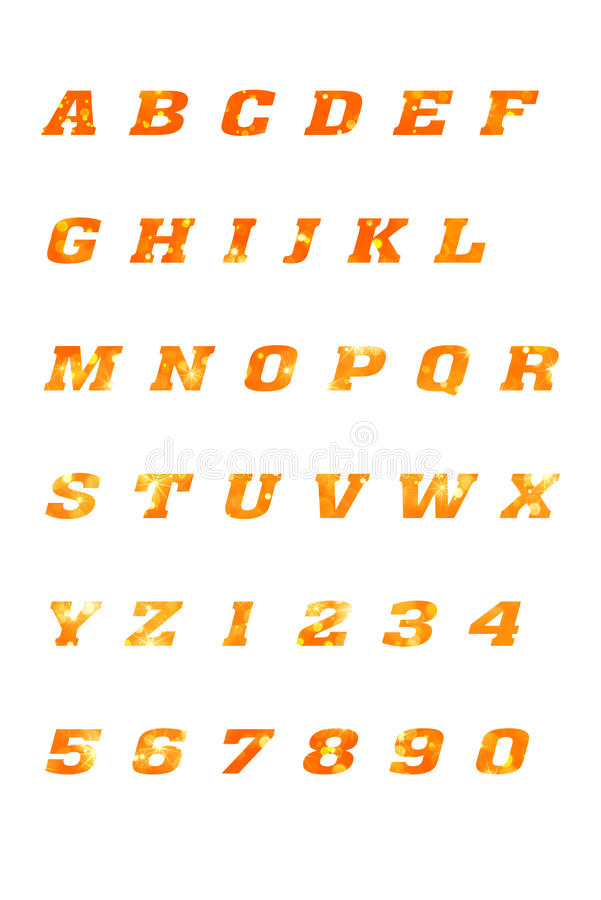 ABC segna l'alfabeto ed i simboli con lettere immagini stock libere da diritti