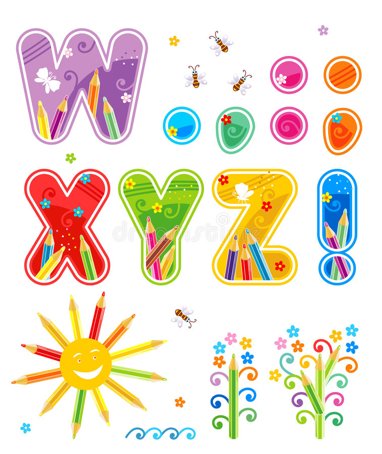Free Abc Set Letters W - Z Plus Stock Images - 9045254