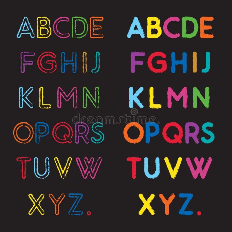 Abc-stilsort vektor illustrationer