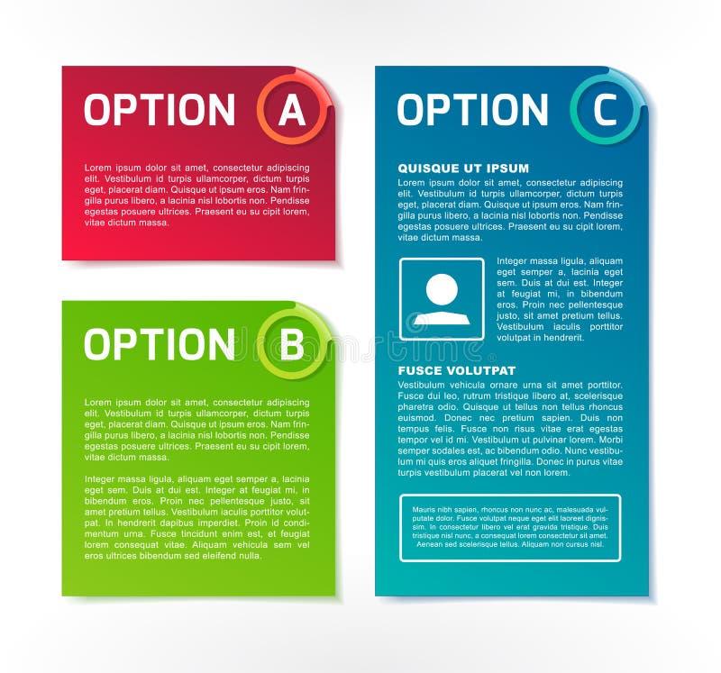 ABC vector bandeiras coloridas da opção ilustração royalty free