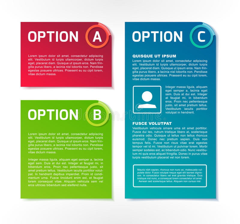 Download ABC Vector Colorful Option Banners Stock Vector - Illustration of bend, green: 34140402