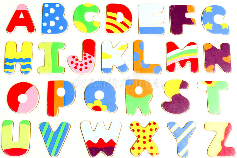 ABC wooden alphabet puzzle board royalty free stock image