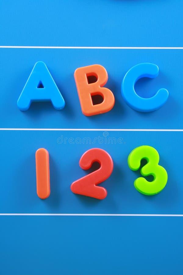 ABC y 123 foto de archivo