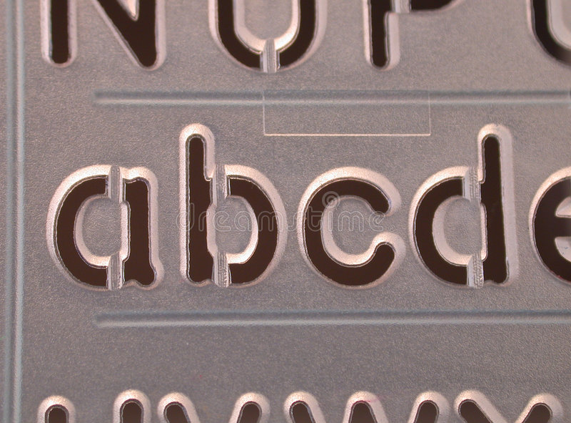 Abcd διάτρητο Στοκ Εικόνα