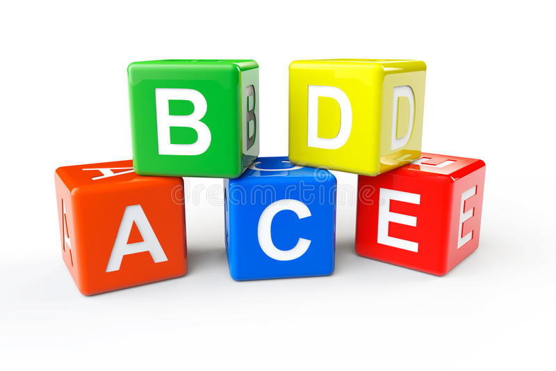 ABCD block cubes royalty free illustration