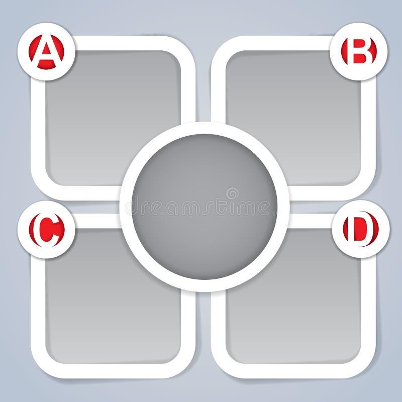 ABCD Progress Template Frames royalty free illustration