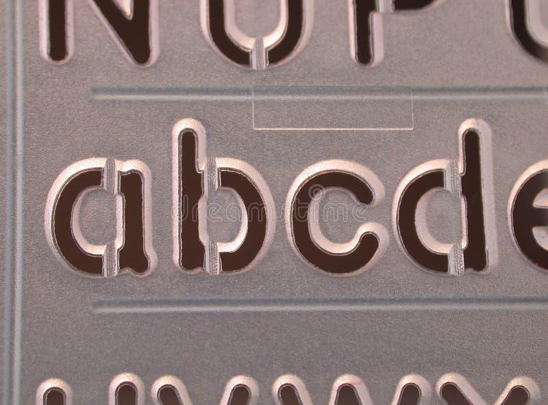 Abcd stencil stock image