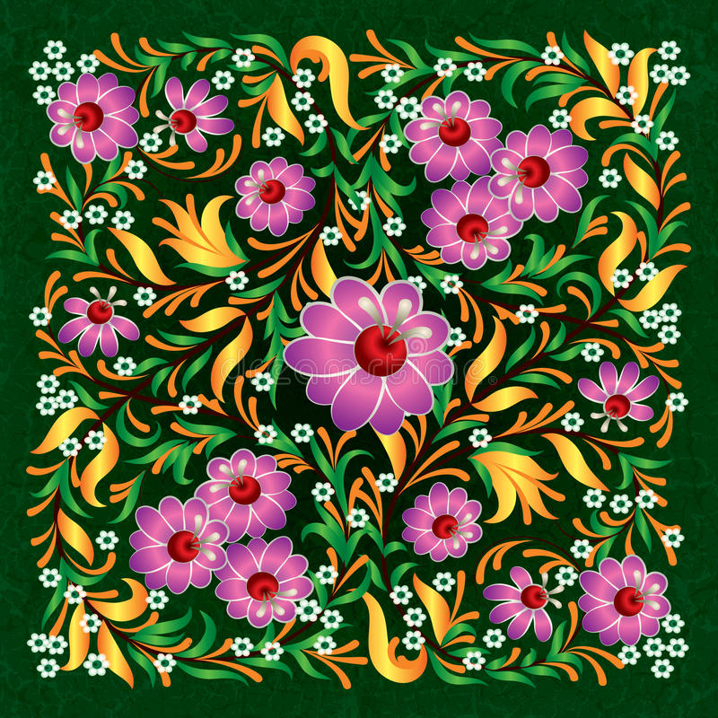 abctract floral διακόσμηση grunge ανασκόπησ& ελεύθερη απεικόνιση δικαιώματος