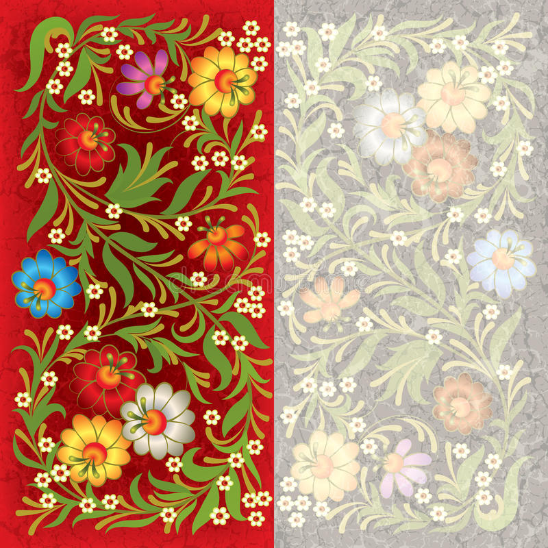 Download Abctract Grunge Background With Floral Ornament Stock Photography - Image: 20470892