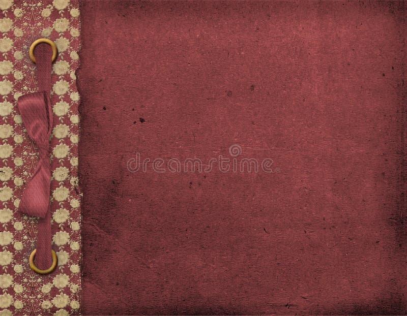 Abdeckung für Portefeuille mit Bogen. Abstrakter Hintergrund stock abbildung