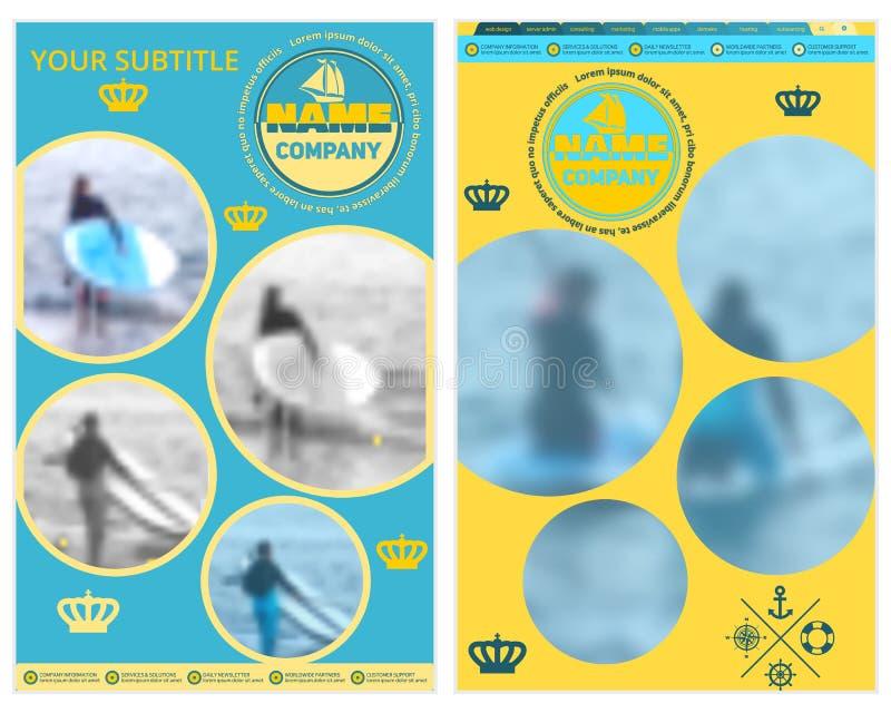 Abdeckung für Tourismus- oder Reisefirma Unscharfer Hintergrund Abstrakter Hintergrund für die Auslegung der Visitenkarte Werbung lizenzfreie abbildung
