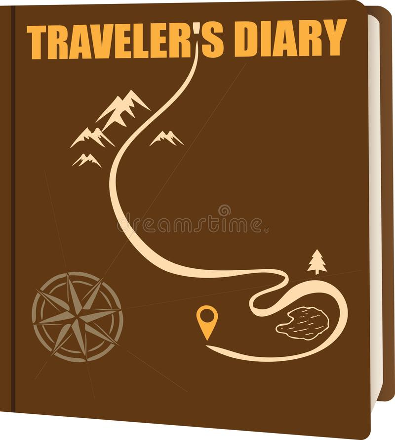 Abdeckung Travele-Tagebuch stock abbildung