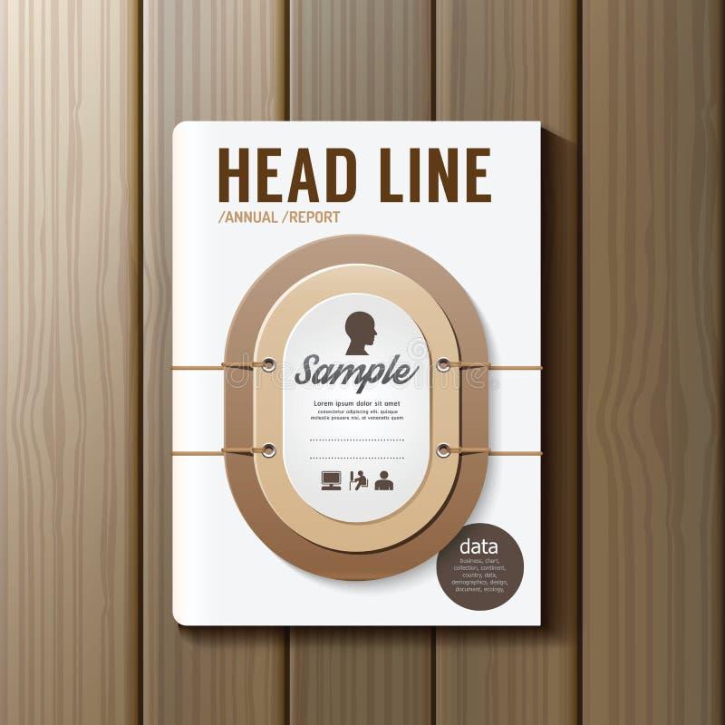 Abdeckungs-Buch-Digital-Design-Erde Tone Color Style Template vektor abbildung