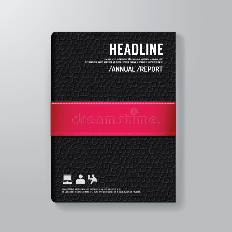 Abdeckungs-Buch-Digital-Design-minimale Art-Schablone vektor abbildung