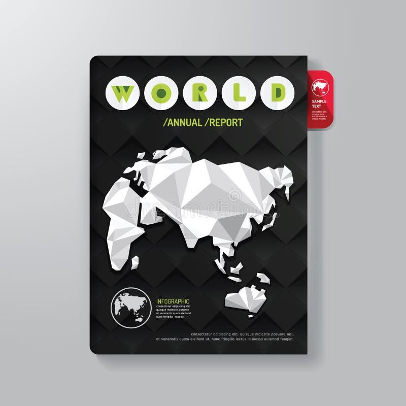 Abdeckungs-Buch-Digital-Design-minimale Art-Schablone lizenzfreie abbildung