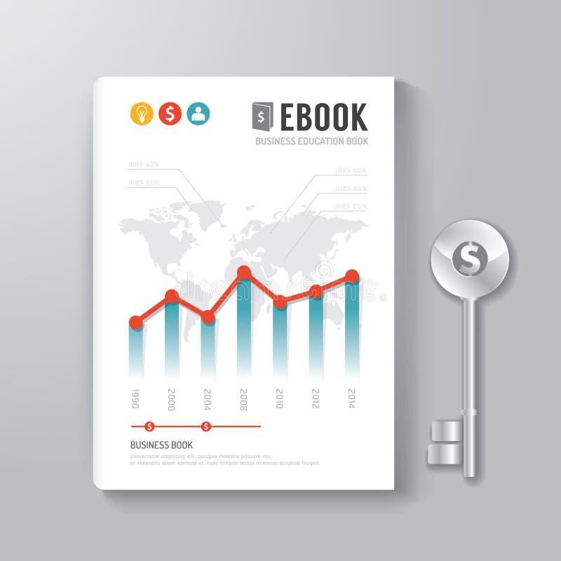 Abdeckungs-Buch-Digital-Design-Schablonen-Schlüssel des Geschäfts-Konzeptes stock abbildung