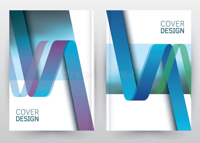 Abdeckungs-Design-Vektorschablone gesetzte Broschüre, Jahresbericht, Zeitschrift, Plakat, Unternehmensdarstellung, Portfolio, Fli lizenzfreie abbildung